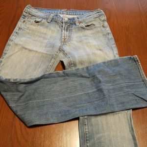 7 for all mankind light denim wide leg A228:5:918